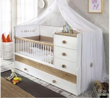 Łóżeczko kompaktowe Natura Baby z akcesoriami 165cm*88cm*86cm