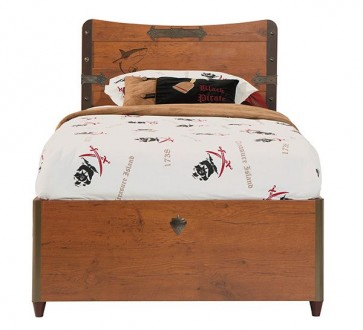 Łóżko dziecięce Black Pirate 190cm*90cm ze schowkiem