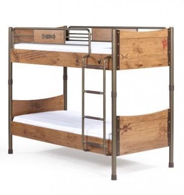 Łóżko piętrowe Black Pirate 200cm*90 cm