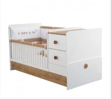 Cilek Natura Baby Łóżeczko kompaktowe bez szuflady ( 75 x 160 cm)
