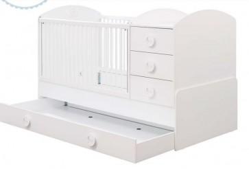 Cilek Baby cotton łóżeczko kombi z szufladą( 180x80cm)