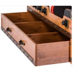 Wysuwana szuflada do łóżka statku Black Pirate 166cm*94cm