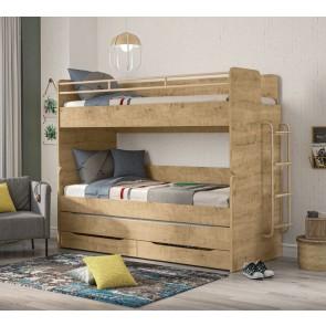 Piętrowe łóżko Mocha ( 3 miejsca do spania)
