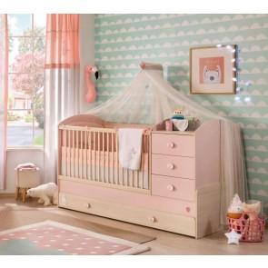Baby Girl łóżeczko kompaktowe (180 x 80)