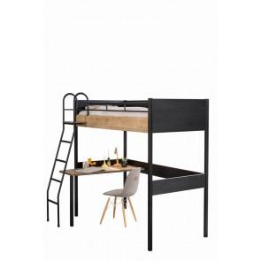 Łóżko wysokie 90x190 )z biurkiem Black Compact Cilek