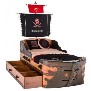 Łóżko statek piracki Black Pirate 195cm*90cm