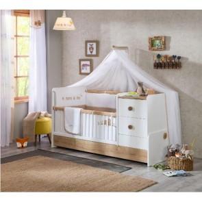 Cilek Natura Baby Łóżeczko kompaktowe bez szuflady ( 60 x 175 cm)