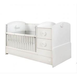 Cilek Baby Cotton Łóżeczko kompaktowe bez szuflady ( 60 x 175 cm)