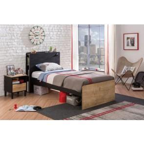 Łóżko Black (100x200cm)