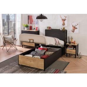 Łóżko z pojemnikiem Black ( 100x200cm)