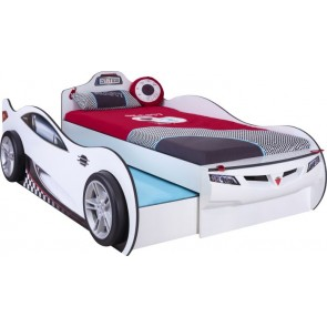 Cilek Coupe łóżko z szufladą samochód- kolor biały
