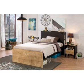 Łóżko Black (120x200cm)